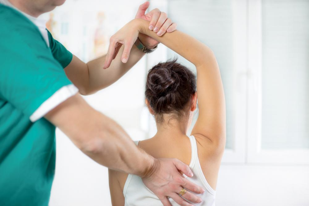woman receiving chiropractic care with Rowland Heights chiropractor